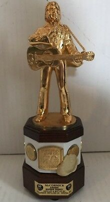 """McCormick Elvis 50th Birthday 9 1/2"""" Decanter Music Box Sealed w/ 7 Gold Coins"""