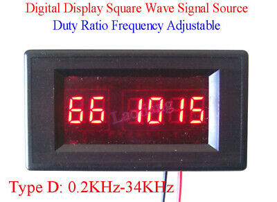 Digital Square Wave Signal Sources Duty Ratio Frequency Adjustable 0.2KHz-34KHz