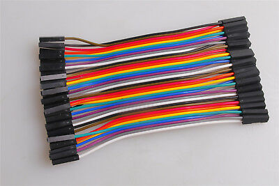 40pcs Jumper Connector Female to Female 1p-pin F-F Dupont wire Cables Line 10CM