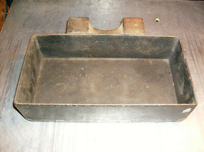 Antique Vintage Cast Iron Steam Engine Tractor Tool Box