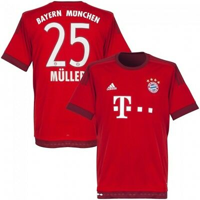 Jersey Adidas Climacool FC Bayern Munich 2015-2016 Home -Müller Size 13/14 years