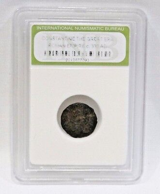 Constantine The Great Roman Empire Coin - 330 AD in sealed case