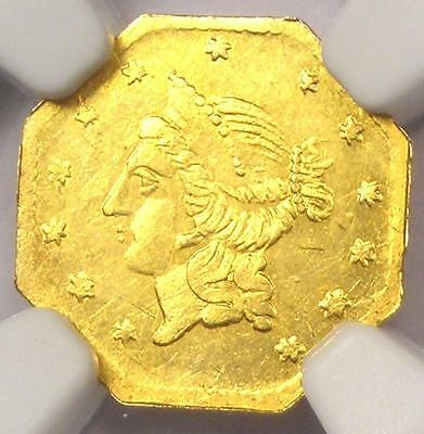 1855 Liberty California Gold Dollar G$1 BG-533 - NGC Uncirculated Dets (UNC MS)