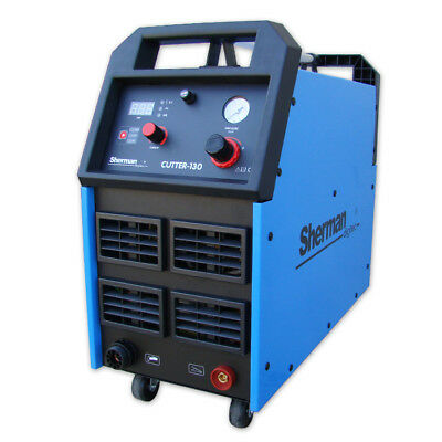 Plasma Cutting IGBT Cutter 130 Sherman 125A with LCD Display, Pressure Regulator