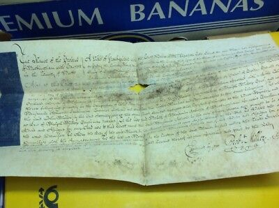 Old Buckinghamshire Document 1782 Vellum Damp Damaged. Robert Miller, B Ashwell
