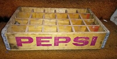 vintage pepsi wooden crate 24 sections