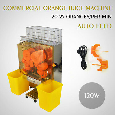 Pro Juice Commercial Auto Feed Orange Juicer Citrus Juice Machine Squeezer 120W