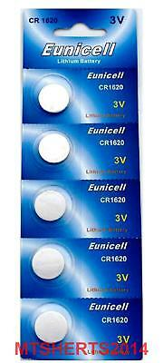 5 Eunicell CR1620 3V Lithium Button Coin Cell Battery Batteries DL1620 QX9