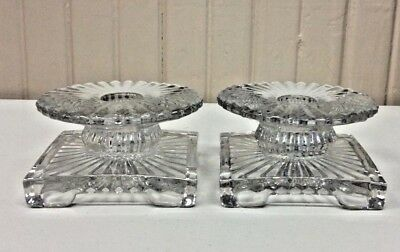 Crystal Candle Holders  (A)