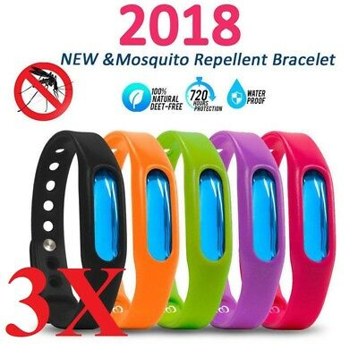 3pcs Natural Anti Mosquito Insect Bug Repellent Bracelet Bands