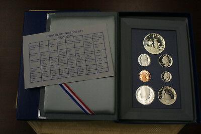 1986 U.S. Prestige Proof Set Mint In Box With COA