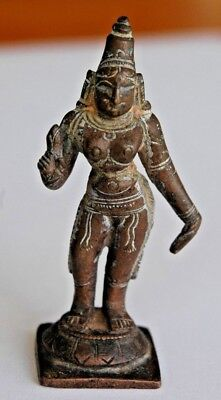 RARE OLDER Indian Copper ALLOY Deity Shiva Figure Hindu Vishnu Miniature 7cm