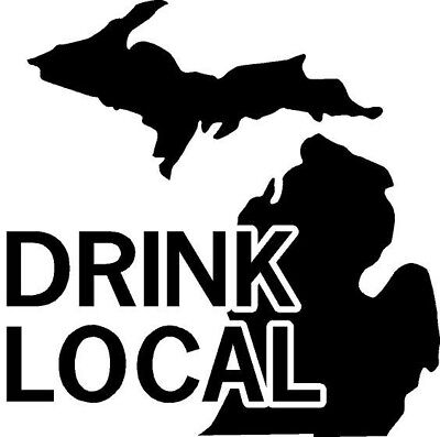 Drink Local Michigan Decal Sticker- All 50 states available