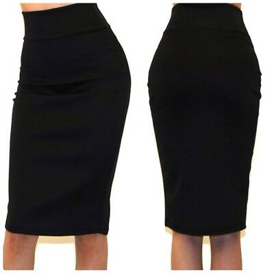 Favorite Girl Style Wholesale Solid Black Straight Pencil Skirt 3 Pcs
