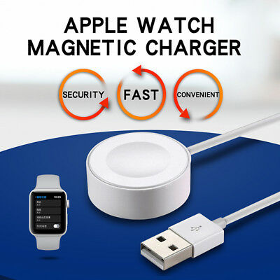For Apple Watch 1 2 3 iWatch 38mm-42mm Magnetic Charger Charging Pad Cable 1M BR