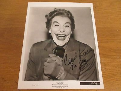 Cesar Romero Signed 8X10 The Joker Photo Autograph  Guaranteed Authentic