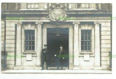 Old Postcard The Connaught Club Bayswater London Real Photo Vintage Used 1911
