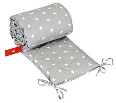 BUMPER FOR COT / PADDED /size 180x30cm /Nursery Bumper / 100% COTTON/