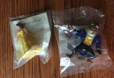 1991 Beauty and the Beast Burger King Kid's Meal Toy - Beast & Belle NEW