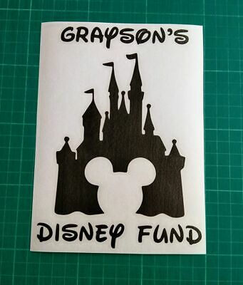 Disney Fund Decal Vinyl Sticker Money Box Frame Gifts Crafting Magical Holiday