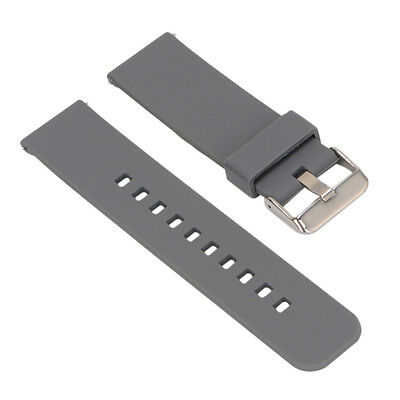 Replacement Silicone Soft Band Strap For Garmin Fenix Chronos GPS Watch Gray