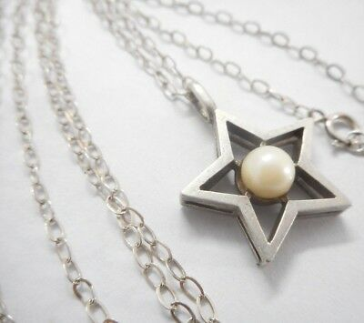 """Vintage 925 Solid Sterling Silver Chain 20 """" Hallmarked & Nice Pendant"""