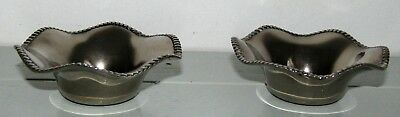 Vintage Antique GRENADIER ENGLISH SILVER-PLATED CANDLE HOLDERS Base 3.5cm Dia