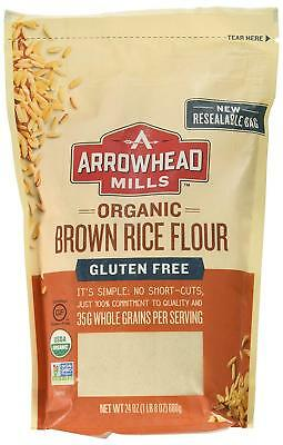Arrowhead Mills Organic Gluten Free Brown Rice Flour, 24 oz. Bag
