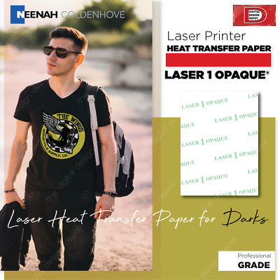 "Laser 1 Opaque for  Dark T-Shirt NEENAH Heat Transfer Paper 8.5"" x 11"" 100 Sheet"