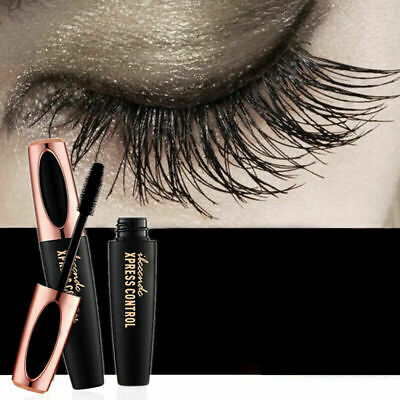 NEU Ultimative 4D Mascara VOLUMEN WIMPERVERLÄNGERUNG Wimperntusche SEIDEN FASER