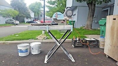 Target Wet Tile Saw Tilematic G2 w/ Tray Stand Extras Masonary Pavers Husqvarna
