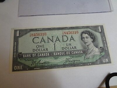 Vintage 1954 Bank of Canada 1 Dollar Note. Mint Uncirculated NICE NOTE!! LOOK