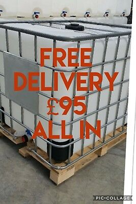 Ibc Tank 1000 Litres FREE DELIVERY water Bowser Water Butt All In £95.00