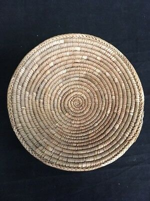 Vintage Handmade Woven Bowl/ Basket by Owambo Tribe Namibia/ S. W. A.