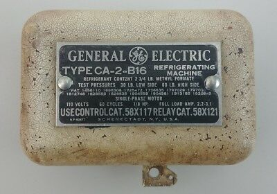 Antique Vintage GE General Electric Refrigerator Ice Box Cover 1934, CA-2-B16