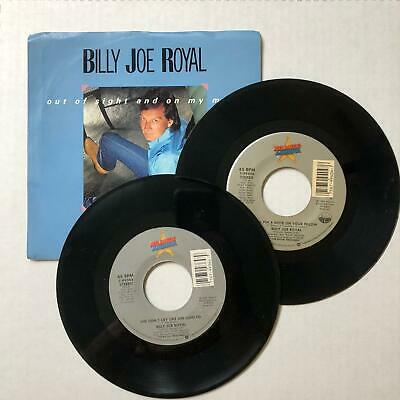 "BILLY JOE ROYAL  45rpm  Lot of 2 records  7"" Vinyl VG+ JUKEBOX"