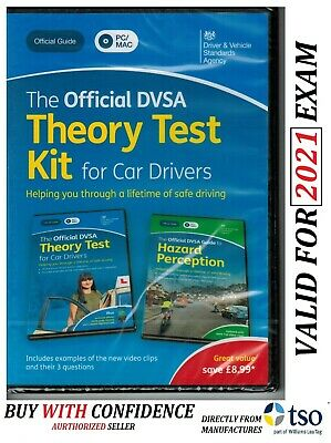 Official DSA Theory Test Kit 2019 PC MAC DVD Hazard Perception DVLA CD KiT