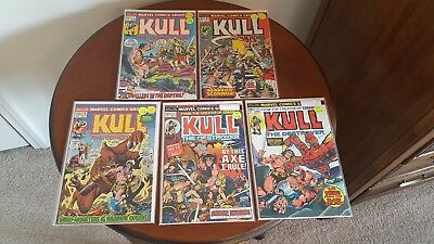 KULL THE CONQUEROR (LOT of 5 high grade comics). Marvel. 1973-1974