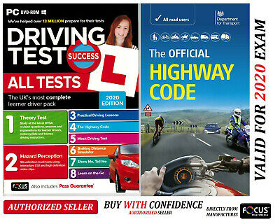 2019 Driving Theory Test & Hazard CD Rom DVD Highway Code Book New AtpcHw