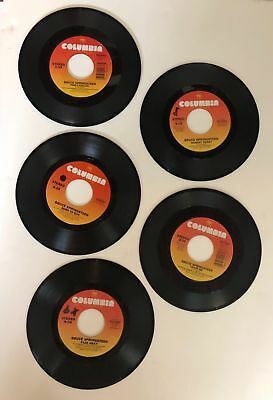 "BRUCE SPRINGSTEEN  45rpm  Lot of 5 records  7"" Vinyl VG+ JUKEBOX"