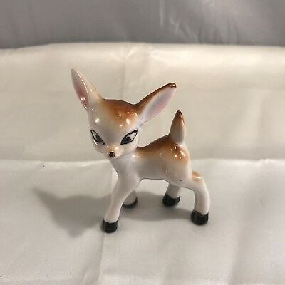 Vintage Ceramic Sweet Adorable Fawn Deer Figurine Marked Made in Japan