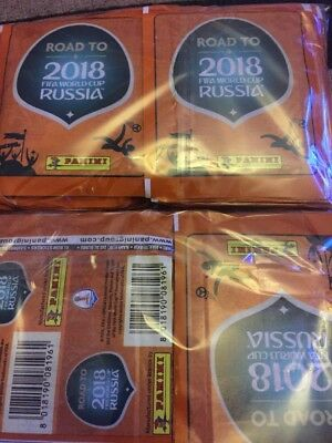 ROAD TO RUSSIA 2018 -100 x SEALED PACKETS  AND SEALED ALBUM