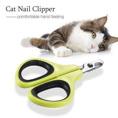 Pet Nail Clippers Cat Nail Scissors Cutter Trimmer pour chaton chiot Rabbi W3B4