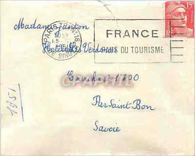 Letter Marianne 15F Paris 1951 for Couchevel