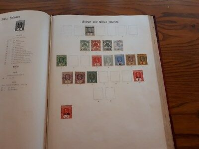 GILBERT & ELLICE and NEW HEBRIDES: PAGES FROM IMPERIAL POSTAGE STAMP ALBUM.