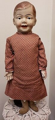 "30"" Jointed Straw Doll with Composition Head & Hands ""Store Display"""