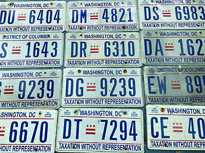1 Washington DC License Plate