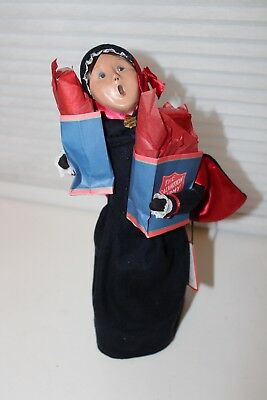 Vintage Byers Choice Carolers Salvation Army Women with Shopping bags