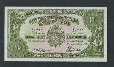 Government of Tonga 10 Sh Treasury Note P10e UNC - see scan