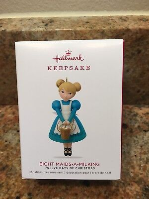 2018 HALLMARK Eight Maids-A-Milking Twelve Days of Christmas  Keepsake Ornament